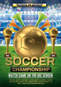 soccer championship A4 template