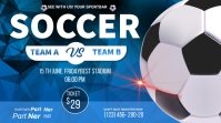 soccer championship flyer Twitch Banner template