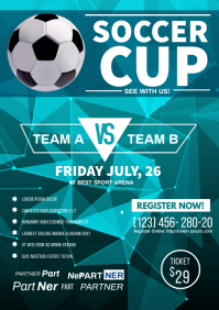 soccer championship flyer A3 template