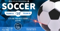 soccer championship flyer Facebook Ad template