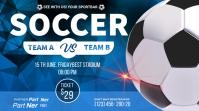 soccer championship flyer Twitter Post template
