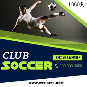SOCCER CLUB AD SOCIAL MEDIA TEMPLATE