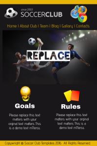 Soccer Club Website Template