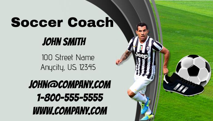 Soccer Coach Business Card Carte de visite template