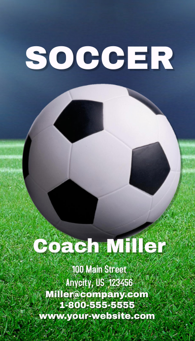Soccer Coach Business Card template