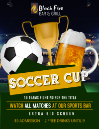 Soccer Cup Viewing Party Flyer Template