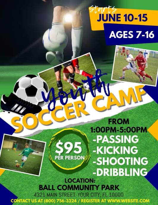 Soccer Flyer (Letter pang-US) template
