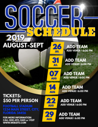 Soccer Flyer (US Letter) template
