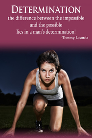 Soccer Determination Motivational Inspirational Poster FLyer