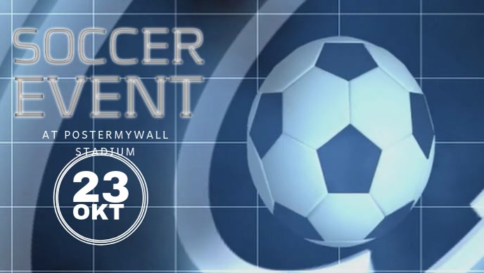 Soccer Event Facebook Video Post Template Facebook-omslagvideo (16:9)