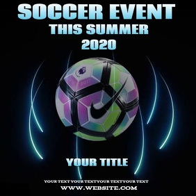SOCCER EVENT TEMPLATE ALBUM COVER