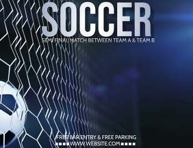 Soccer flyer, Football flyer, gaming video