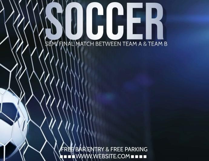 Soccer flyer, Football flyer, gaming video