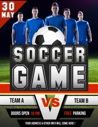 Soccer Flyer,Soccer Game, Football Game, Tournament