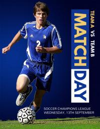 Soccer Flyer,Soccer Game, Soccer Match