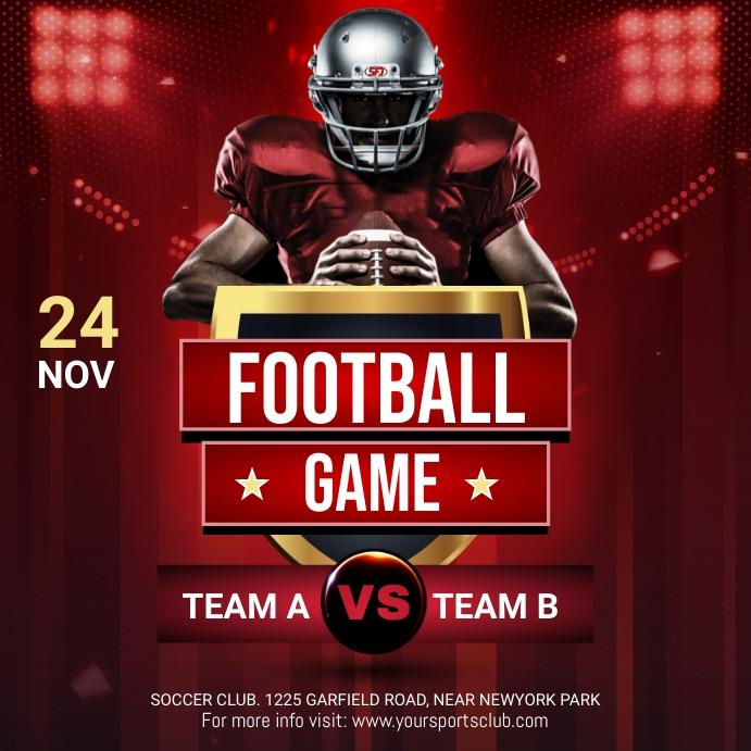 Soccer Flyer,Soccer Game Flyer, Soccer Match, Square (1:1) template