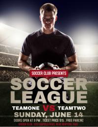 Soccer Flyer,Soccer Game Flyer, Soccer Match,