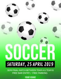 Soccer Flyer,Soccer Game Poster, Soccer Match Poster,Soccer