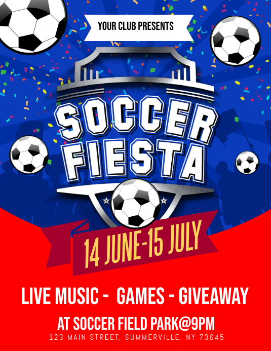 soccer flyer template postermywall
