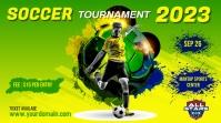 soccer flyer template Digital Display (16:9)