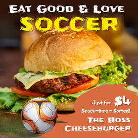Soccer Food Deals Instagram Post