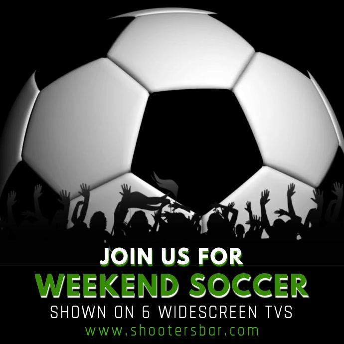 Soccer Football Bar Promo Video Instagram Post template