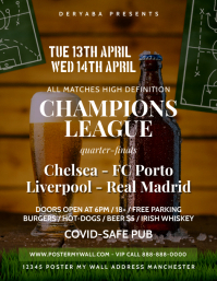 Soccer Football Beer Bar Pub Flyer