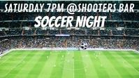 Soccer Football Event Social Media Template Digital Display (16:9)