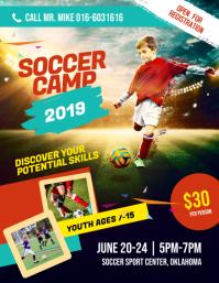 Soccer Football Futsal Camp Flyer Poster Template