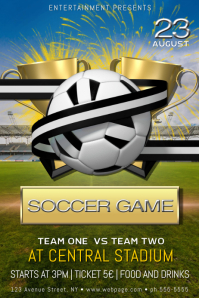 Soccer football game match cup tournament poster template