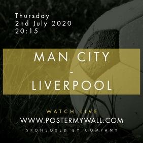 Soccer Football Instagram Banner, Match Event