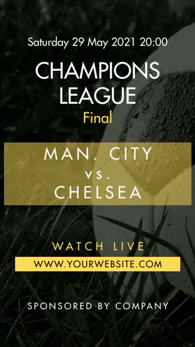 Soccer Football Instagram Story Match Promo template