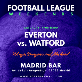 Soccer Football Match Instagram Banner