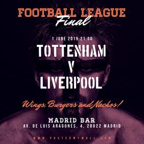 Soccer Football Match Instagram Square Banner