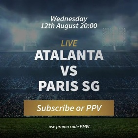 Soccer Football Match Stream Promotion Video Pos Instagram template