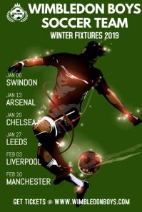 Soccer Football Team Schedule Poster