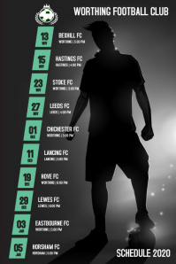 Soccer Football Team Schedule Poster template