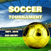 SOCCER FOOTBALL TOURNAMENT FLYER Capa de álbum template