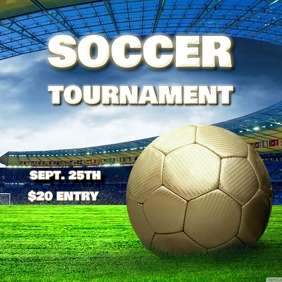SOCCER FOOTBALL TOURNAMENT FLYER