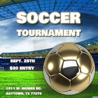 SOCCER FOOTBALL TOURNAMENT FLYER TEMPLATE Capa de álbum
