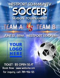 Soccer / football tournament template Flyer (US-Letter)