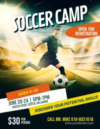 Soccer Futsal Football Camp Flyer Poster Template