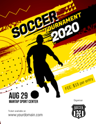 Soccer Futsal Football Tournament Flyer