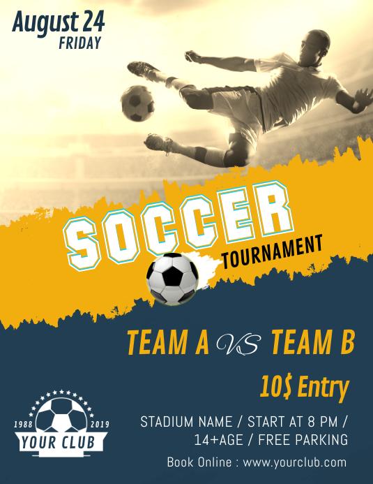 Soccer Futsal Football Tournament Flyer Poste