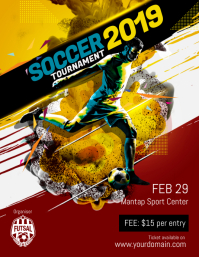 soccer tournament poster template