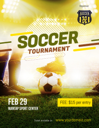 Soccer Futsal Football Tournament Flyer Poster Template