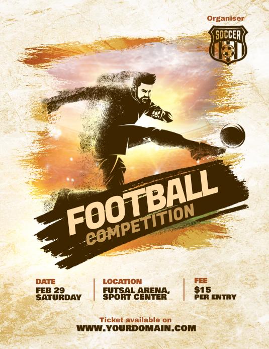 Soccer Futsal Football Tournament Flyer Poster Template