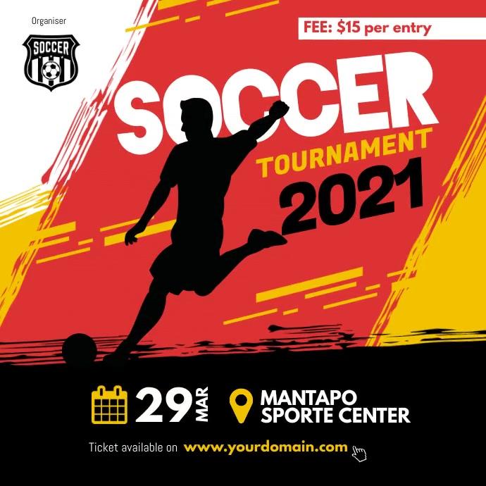 Soccer Futsal Tournament Flyer Instagram template