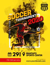 Soccer Futsal Tournament Flyer Poster