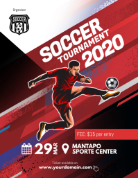 Soccer Futsal Tournament Flyer Poster template